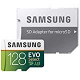 Samsung MB-ME128GA/AM - MicroSDXC tarjeta de memoria Evo Select con adaptador, 128GB
