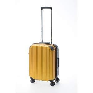 ツートンカラー スーツケース/キャリーバッグ 【Sサイズ イエロー/ブラック】 33L 『アクタス』【代引不可】 B07PF86FRD