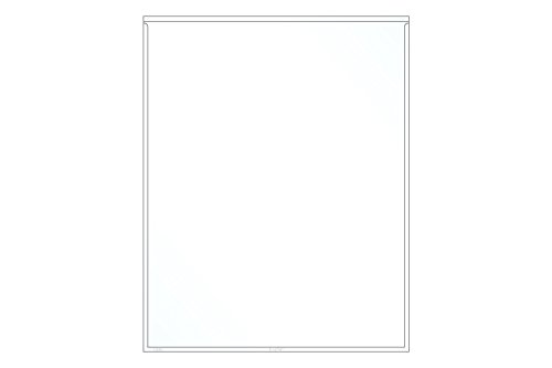 EnvyPak Adhesive Full Page Pocket, 9 x 12 inch - Pack of 50