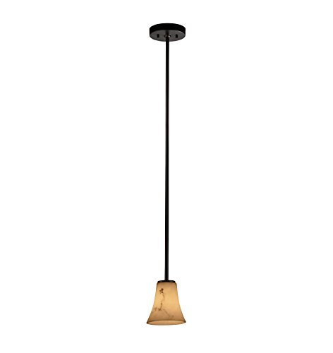 Justice Design Group FAL-8815-20-MBLK LumenAria Collection Mini 1-Light Pendant by Justice Design Group Lighting ()