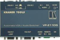 (Kramer TOOLS VP-211DS - Automatic VGA / UXVGA / Audio Switcher  - Video/Audio Switch - Desktop )