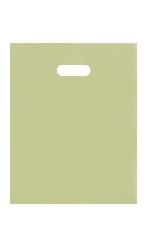 """Frosted Tote (Count of 45 Retail Small Sage Green Frosted Plastic Merchandise Shopping Bag 9.25"""" x 12.5"""