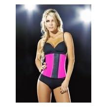 Ann Chery Deportiva Sport Latex Waist Cincher Body Shaper - #1 Seller! (Neon Pink, XL-38) by Almyty Attire