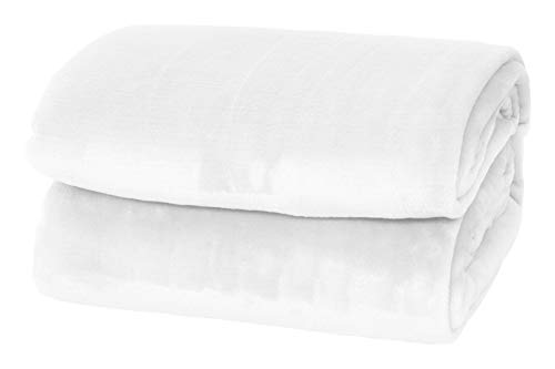 (Style Basics Silky Soft Thick Plush Sofa Throw Blanket (White, Throw 50 X 70))