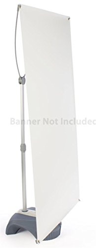 Banner Stand Graphic (Displays2go Portable Banner Sign Stand Holds Graphics up to 39 x 82 Inches without Banner (YB3979M2))