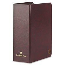 "Storage Binder, Classic, 3"""" Thick, 5-1/2""""x8-1/2"""", Burgundy, Sold as 1 Each"