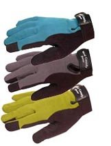 Ultimate Garden Work Gloves, Adjustable Wrist Tab (Men's Medium, Grey)