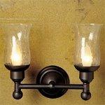 Newport Brass 12-52HC Aylesbury Double Light Bathroom Fixture with Hurricane Etc, Oil Rubbed Bronze