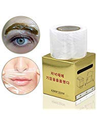 Eyebrow Tattoo Plastic Wrap, Tattoo Preservative Film, Professional Eyebrow Tattoo Makeup Supplies for Eyebrow Eyeline Tattoo Lip and Tattoo, Cover Film for Women
