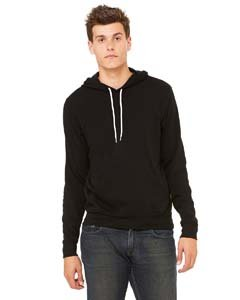Bella + Canvas Unisex Poly-Cotton Fleece Pullover Hoodie (Black) (S) (Pullover Bella Hooded)