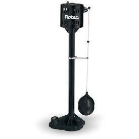 Flotec Thermoplastic Pedestal Sump Pump 1/3 HP