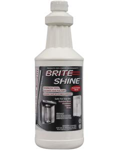 140632001-32QT Brite Shine Stainless Steel Cleaner-Polish, Liquid, 6/Case (4 Cases)