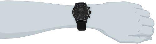 hugo boss aeroliner men 39 s quartz black chronograph black. Black Bedroom Furniture Sets. Home Design Ideas