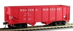 Model Power - - - HO RTR 36' 2-Bay Coverot Hopper, WM by Model Power 99a302