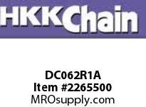 (HKK DC062R1A C2062H Single Strand Heavy Series Roller Chain, Double Pitch, Carrier Type, Riveted, Carbon Steel, 1-1/2