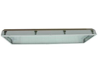 Hazardous Area Fluorescent Light - Emergency Backup Ballast - Class I, Div. II - 4', 4 Lamp - T8(-Pendant) ()