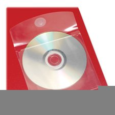 CD Disk Pockets, Self-Adhesive, 5''x5'', 10/Pack, Clear, Sold as 2 Package by Cardinal