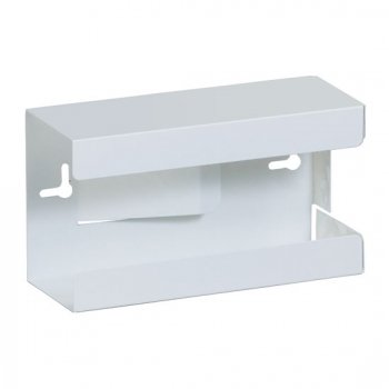 Single White Steel Glove Box Holder - CL-GW-2000