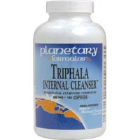 Triphala Internal Cleanser, 500 MG, 180 caps by Planetary Herbals (Pack of 6)