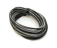 OEM Colored Electrical Wire 13' Roll - Black / White Stripe (13' Stripes)