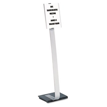Info Sign Duo Floor Stand, Letter-Size Inserts, 15 X 44-1/2, (Info Sign Duo Floor)