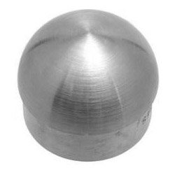 Brushed Stainless Steel Domed End Cap for Bar Foot Rail