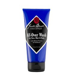 JACK BLACK All-Over Wash Wash for Face, Hair and Body, Multipurpose Wash, Sulfate-Free, Eliminates Dirt and Sweat, Contains Proteins Vitamins, Botanicals, 10 oz