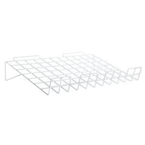 Slatwall Wire Shelf, 14 x 24, Chrome