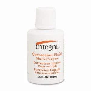 Integra Multipurpose Correction Fluid, 22ml, White (216 Units)
