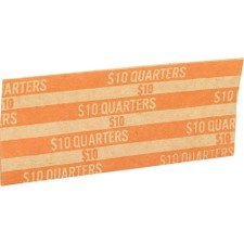 (Coin Wrapper, 1000 per Box, Various Denominations Denomination: Quarters-Orange)