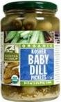 Woodstock Organic Kosher Baby Dill Pickles, 24 oz