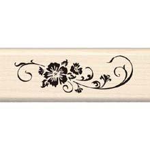 - Inkadinkado Long Scroll Wood Stamp_95975