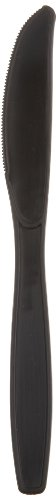"""Dixie PKH53C Heavy Weight Polypropylene Knife, Individually Wrapped, 7"""" Length, Black"""