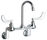 (Chicago Faucet Company Wall Mount Off Set Hospital Sink Faucet with with 3-1/2