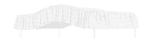 Canopy Top Fabric - Full Size Fantasy Eyelet White Canopy Top Fabric