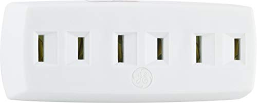 - GE 3 Adapter Wall Tap, Extender, 2 Prong, Polarized Outlet, Indoor Rated, UL Listed, White, 54192, 1 Pack,