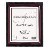 (NuDell Executive Document Frame, Plastic, 8-1/2 x 11, Black/Mahogany - 17402 (Pack of)