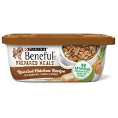 6 Tubs of Purina Beneful Prepared Meals Roasted Chicken Recipe Adult Wet Dog Food - 10 oz. ea