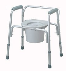- ^Deluxe 4-in-1 Steel Commodes - Aluminum Commode - 4/cs Min.Order is 1 CS ( 4 Each / Case; )