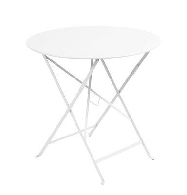 Fermob Bistro mesa redonda plegable de acero Diámetro Ø cm. 77 ...