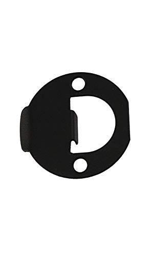 "Kwikset 83929 Full Round 1-3/4"" Strike Plate, Iron Black"