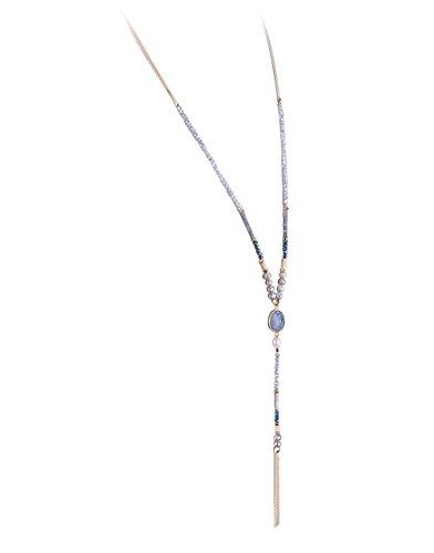 KELITCH Crystal Necklace Pendant Statement