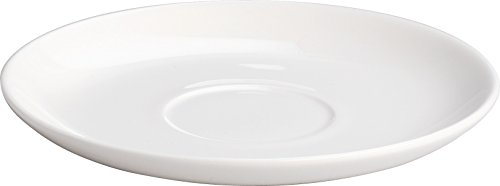 "Alessi""All-Time"" Saucers For Teacup in Bone China (Set of 4), White"