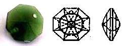 Swarovski Strass Emerald Octagon Lily With Lazer Logo Etched 14mm 1 hole # ()