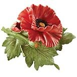 Poppies Lenox (Lenox Red Poppy Floral Figurine)