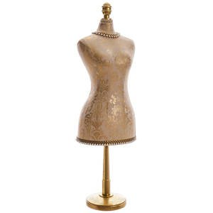 Gold Linen Female Bust Form, 29'' H by Retail Resource