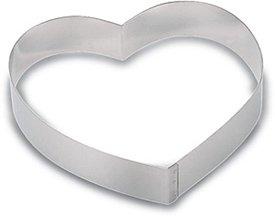 Heart Shaped Cake Ring Heavy Duty Stainless Steel. 7'' diameter