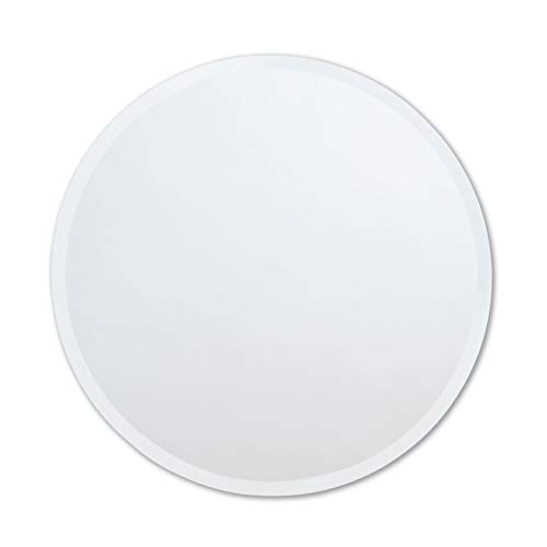 The Better Bevel Round Frameless Wall Mirror | Bathroom, Vanity, Bedroom Mirror -
