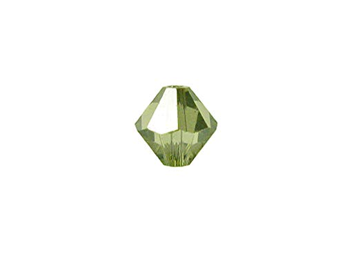 Swarovski Crystal, 5328 Bicone Beads 4mm, Jonquil Satin, Wholesale Packs   Pack of 100