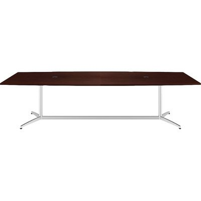 Bush 300 Series 10' Boat Shaped Conference Table in Harvest Cherry by Bbf